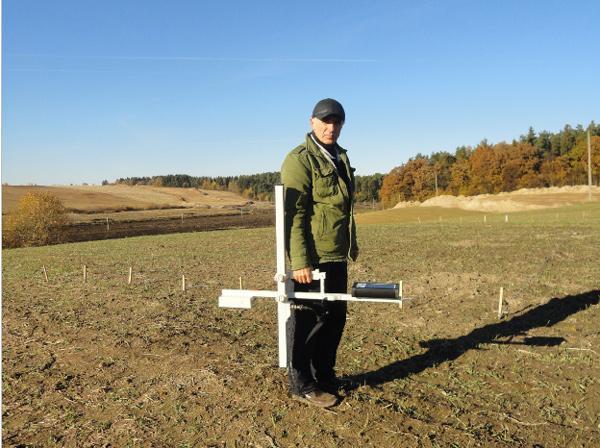 Съёмка с МГ400 при археологических исследованиях.